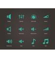 Speaker icons volume control vector