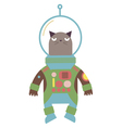 Cat in a space suit vector