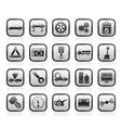 Car services and transportation icons vector