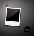 Instant photo design vector