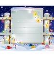 Christmas wooden banner vector