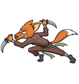 Ninja fox vector