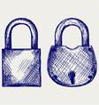 Closed locks security icon vector