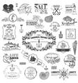 Nautical sea calligraphic elements vector
