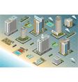 Isometric seaside buildings vector