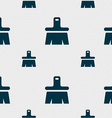 Paint brush artist icon sign seamless pattern with vector