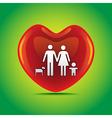 Family heart vector