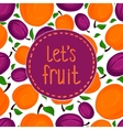 Seamless pattern of apricots vector