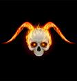 Horny devil vector