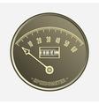 Speedometer in retro style - vector