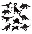 Dino animal dinosaur silhouette vector