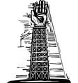 Hand tower vector