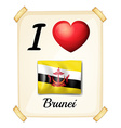 I love brunei vector