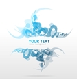 Abstraction blue background for text vector