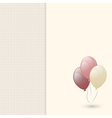 Greeting card with balloon vector