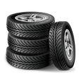 Tire set vector