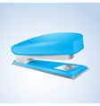 Blue stapler vector
