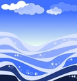 Abstract sea and blue sky vector