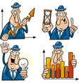 Business cartoons with funny man vector
