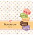 Macarons background vector