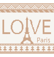 Eiffel tower scandinavian style seamless knitted p vector