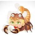 Baby zodiac - sign scorpio vector