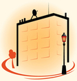 Building with street lights icon color vector