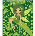 Wood fairy vector