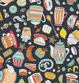 Dessert seamless pattern vector