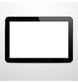 Realistic horizontal black tablet pc vector