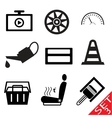 Car part icon set 3 vector