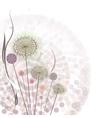 Gentle floral background vector