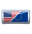 Usa - eu sign vector