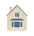 Detailed house icon isolated on white background vector