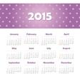 Calendar 2015 year with stars vector