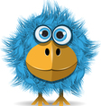 Funny blue bird vector