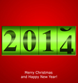 Green new year counter vector