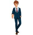 A businessman in a formal attire vector