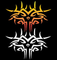 Tattoo graphic of dragon face vector