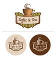 Coffee and tea logo template vector