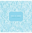 Abstract frost swirls texture frame seamless vector