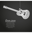 Electric guitar hanging on black background vector