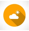 Cloud and sun vector