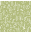Seamless pattern of leaves floral background vector