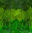 Natural green polygonal triangular pattern vector