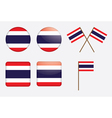 Badges with flag of thailand vector