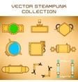 Steampunk set vector