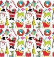 Christmas retro wallpaper vector