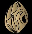 Golden lotus tattoo vector