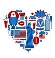 Heart new york usa vector